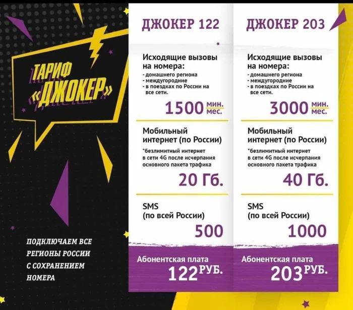 Краткое описание тарифа Джокер от Билайн