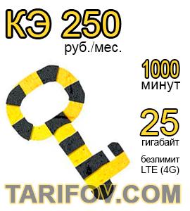 Тарифный план Ключевой 2019 250 от Билайн
