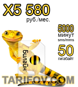 Тарифный план X5 580 от Билайн